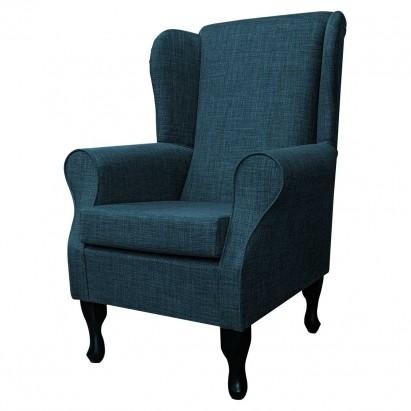 Standard Wingback Fireside Westoe Chair in a Lena...