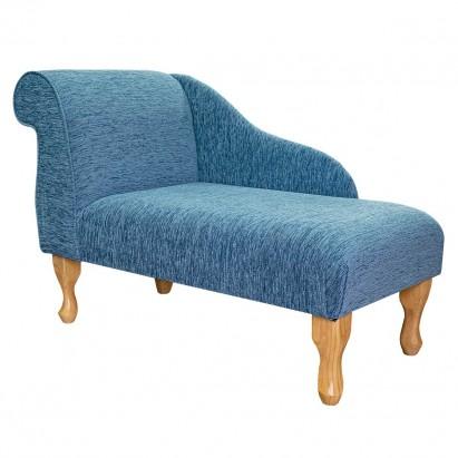 "41"" Mini Chaise Longue in a Coniston Plain Blue..."
