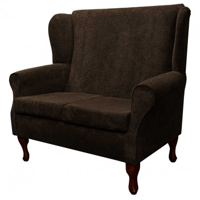 2 Seater Westoe Sofa in a Dimple Chocolate Brown Fabric