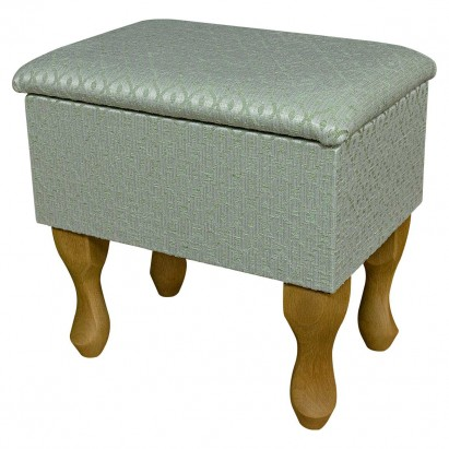 Small Dressing Table Stool in a Woburn Trellis Green...