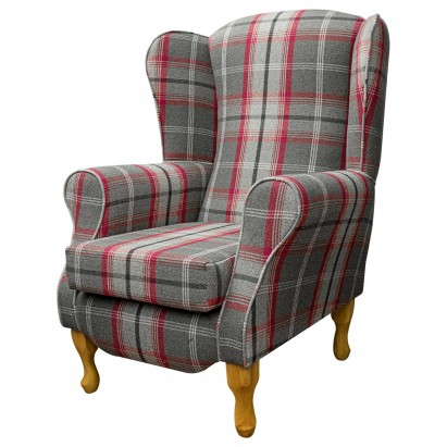Duchess Wingback Armchair in a Balmoral Rosso Red...