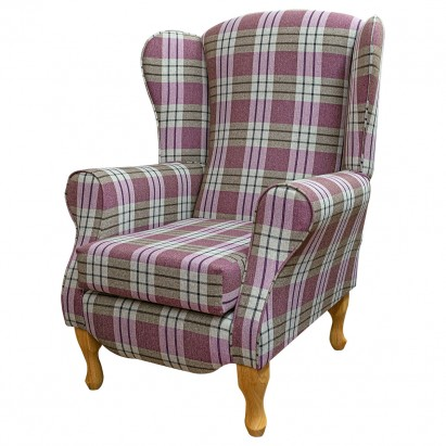 Duchess Wingback Armchair in a Kintyre Heather...