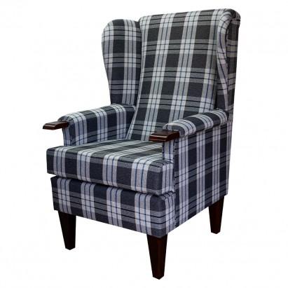 Kensington Westoe Chair in a Kintyre Charcoal Tartan...