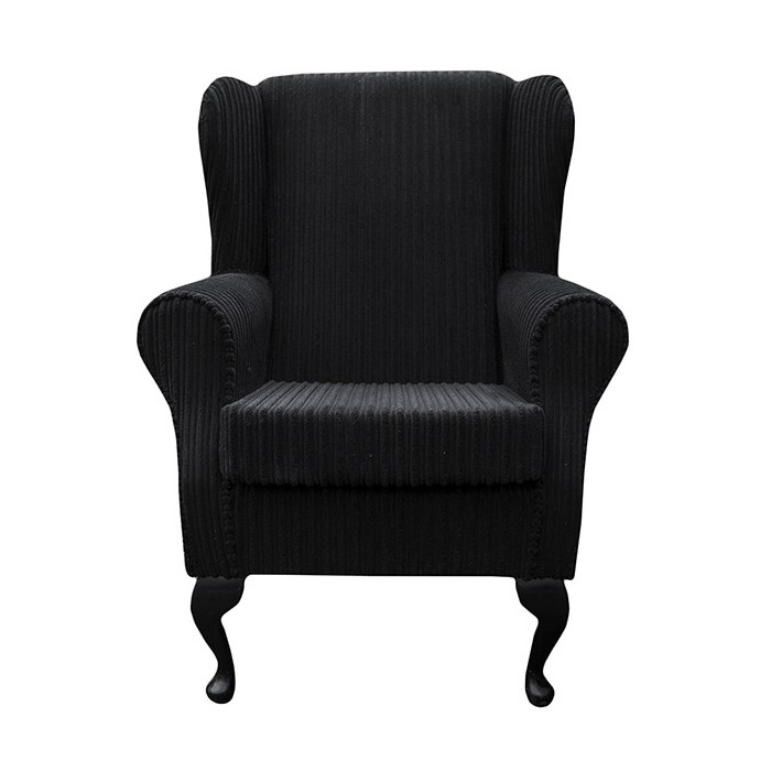 Westoe Chair in a Black Noir Jumbo Cord Fabric - 16114