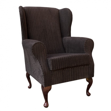 Westoe Chair in a Chocolate Jumbo Cord Fabric - 16102