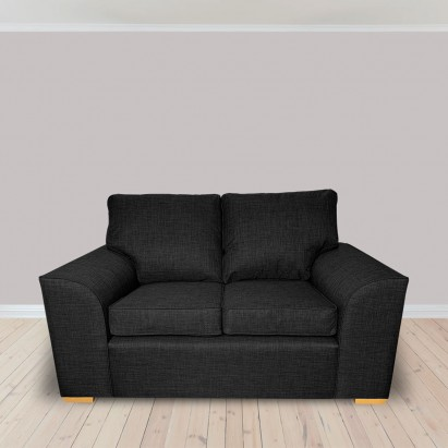 Dallas Two Seater Sofa in a Lena Plain Marl Charcoal...