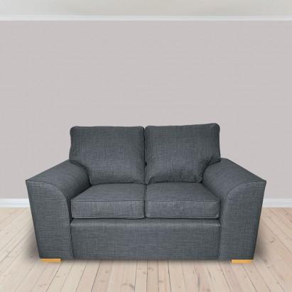 Dallas Two Seater Sofa in a Lena Plain Marl Grey Fabric