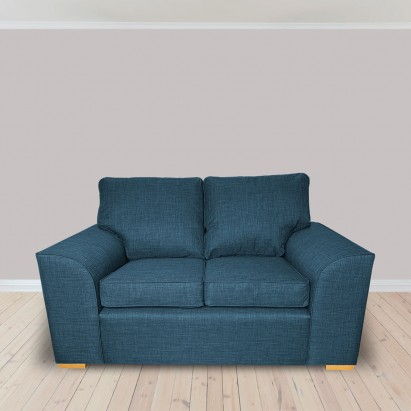 Dallas Two Seater Sofa in a Lena Plain Marl Petrol...