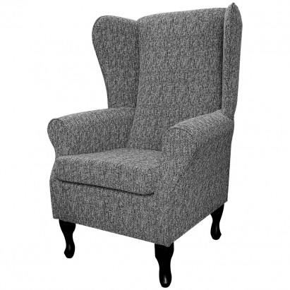 Large Highback Westoe Chair in a Como Charcoal Fabric