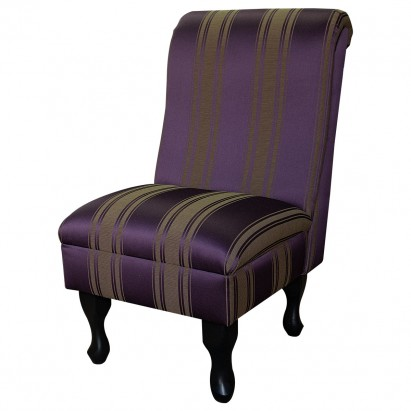 Bedroom Chair in a Damask Damson Stripe Fabric