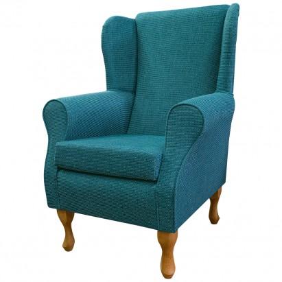 Standard Wingback Fireside Westoe Chair in a Teal...
