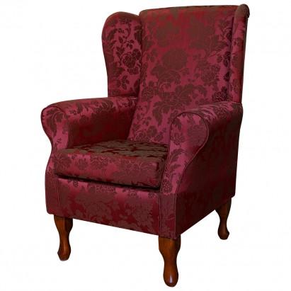 Standard Wingback Fireside Westoe Chair in a Damask...