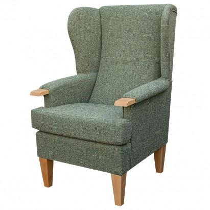 Kensington Westoe Chair in a Matuu Green Weave Fabric