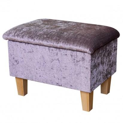 Small Dressing Table Stool in a Pastiche Slub Petal...