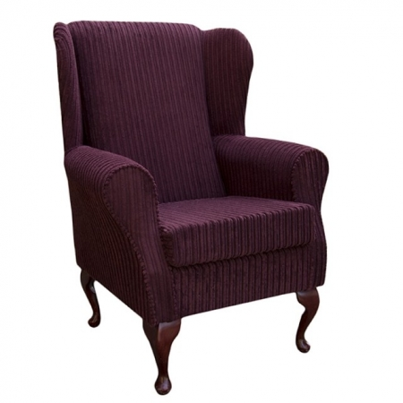 Westoe Wingback Fireside Chair in a Mulberry Jumbo Cord Fabric - 16112
