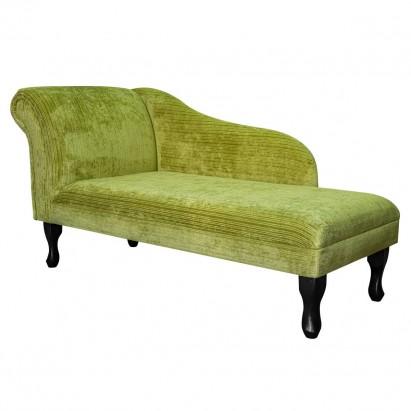 "56"" Medium Chaise Longue in a Topaz Lime Fabric"