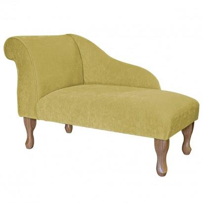 "41"" Mini Chaise Longue in a Pimlico Crush Lemon Fabric"
