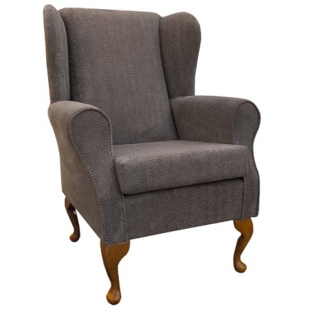 Westoe Wingback Fireside Chair in a Pebble Dimple Fabric - 16137