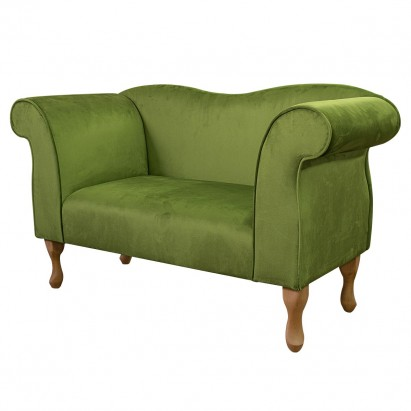 Small Chaise Sofa in a Monaco Olive Supersoft Velvet...