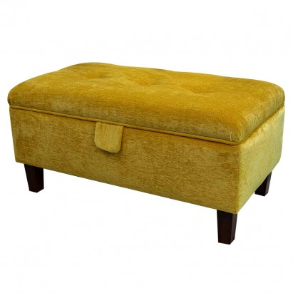 Buttoned Storage Footstool, Ottoman, Pouffe in a...