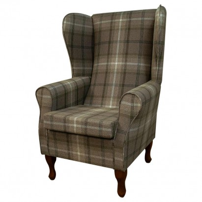 Large Highback Westoe Chair in a Sophie Check...