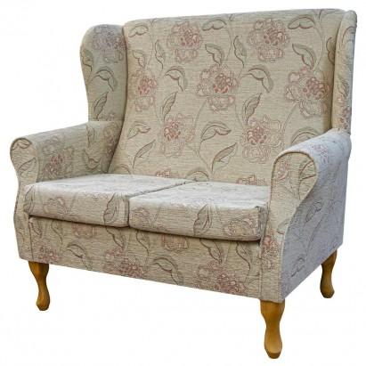 2 Seater Westoe Sofa in a Maida Vale Floral Rose Fabric