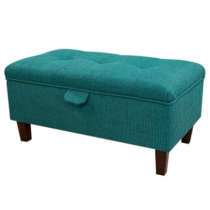Buttoned Storage Footstool, Ottoman, Pouffe in an...