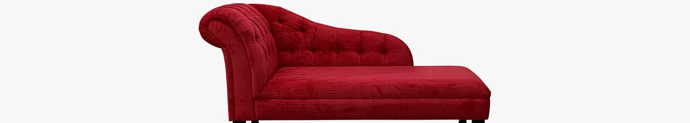 """Buttoned 56"""" Chaise Longues Handmade 