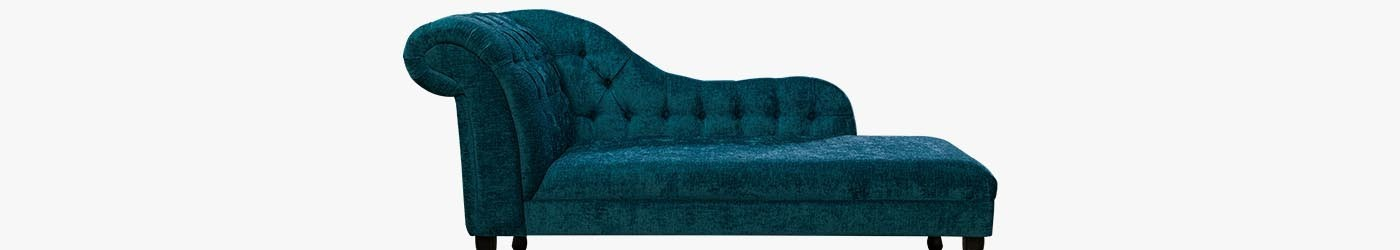 "Buttoned 66"" Chaise Longues Handmade 