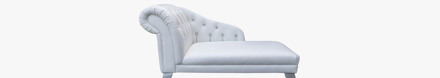 "Buttoned 45"" Chaise Longues Handmade 
