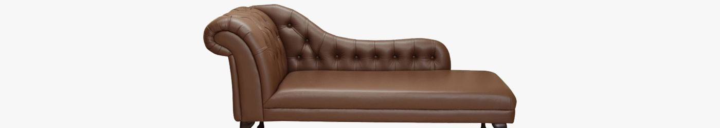 """Buttoned 70"""" Chaise Longues Handmade 