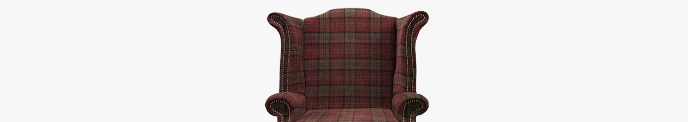 Large Wingback Monk Armchair